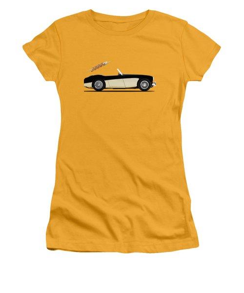 Austin Healey 3000 Women's T-Shirt (Junior Cut) by Mark Rogan