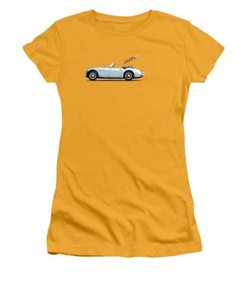 Austin Healey 3000 Mk3 Women's T-Shirt (Junior Cut) by Mark Rogan