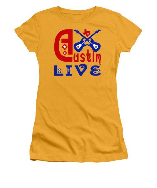 Austin Live Women's T-Shirt (Junior Cut) by David G Paul