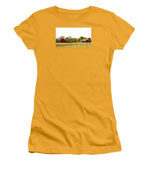 Autumn Barns Women's T-Shirt (Junior Cut) by Pat Cook