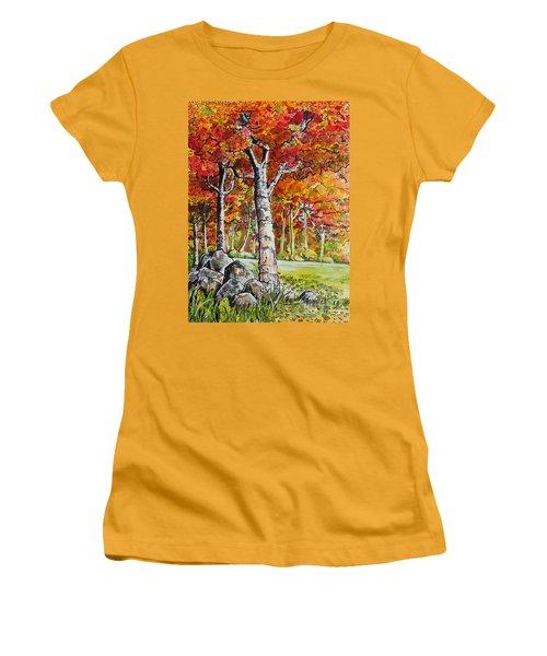 Autumn Bloom Women's T-Shirt (Junior Cut) by Terry Banderas