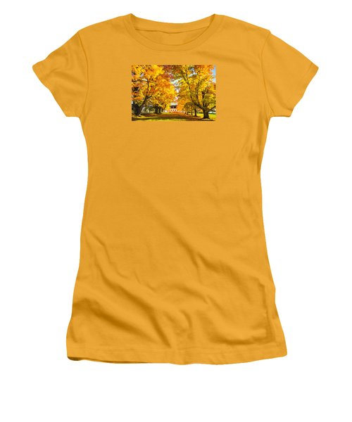 Women's T-Shirt (Junior Cut) featuring the photograph Autumn Gold IIi by Robert Clifford