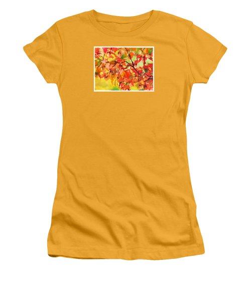 Autumn Leaves Women's T-Shirt (Junior Cut) by Christina Lihani