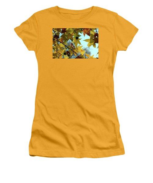 Autumn Leaves Women's T-Shirt (Junior Cut) by Joanne Coyle