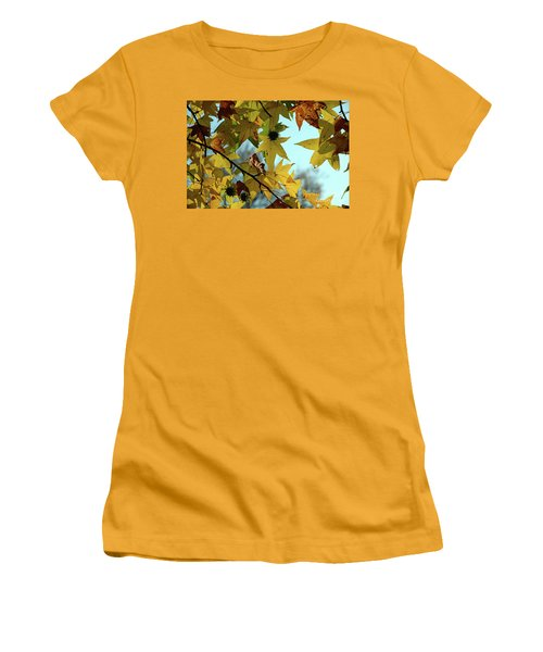 Autumn Leaves Women's T-Shirt (Athletic Fit)