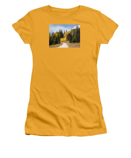 Autumnal Forest-dixie National Forest Utah Women's T-Shirt (Athletic Fit)