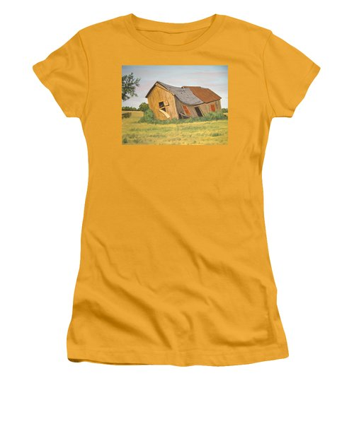 Women's T-Shirt (Junior Cut) featuring the painting Award-winning Original Acrylic Painting - Now I Lay Me Down To Sleep by Norm Starks