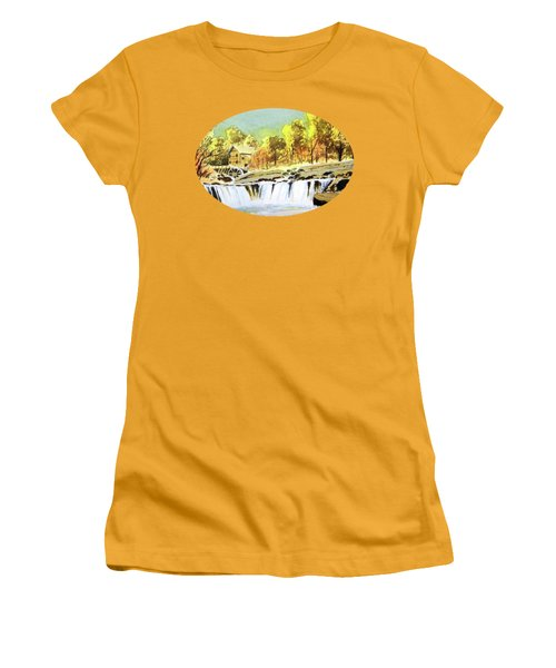 Babcock State Park West Virginia Women's T-Shirt (Junior Cut) by Bill Holkham