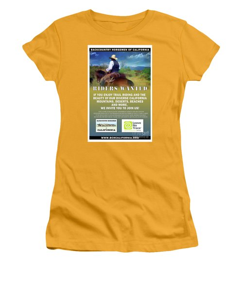 Backcountry Horsemen Join Us Poster Women's T-Shirt (Athletic Fit)