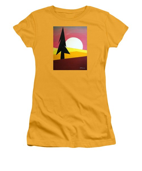 Women's T-Shirt (Junior Cut) featuring the painting Bad Moon Rising by J R Seymour