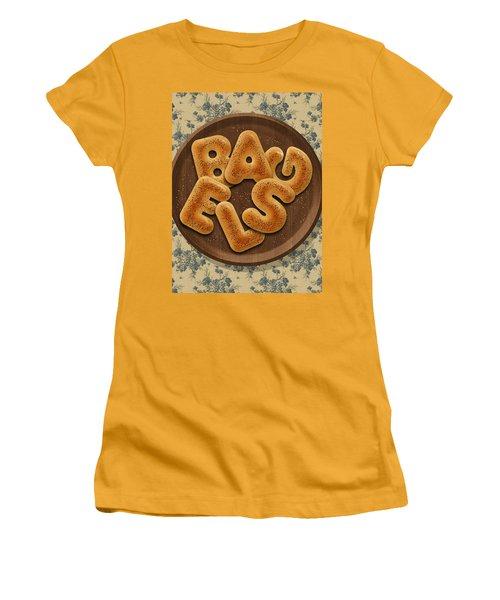 Bagels Women's T-Shirt (Junior Cut) by La Reve Design
