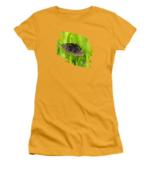 Baltimore Checkerspot Butterfly Women's T-Shirt (Athletic Fit)