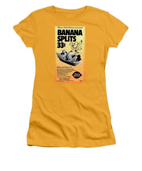 Banana Split Advertising 1973 Women's T-Shirt (Athletic Fit)