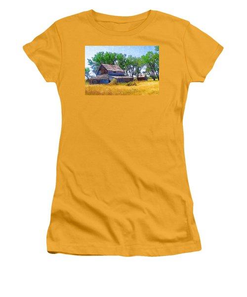 Women's T-Shirt (Junior Cut) featuring the photograph Barber Homestead by Susan Kinney
