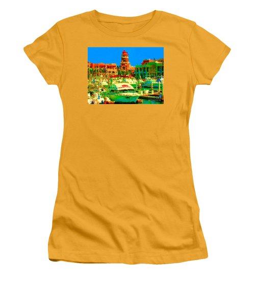 Barcos Cerca Paraiso Women's T-Shirt (Junior Cut) by Gerhardt Isringhaus