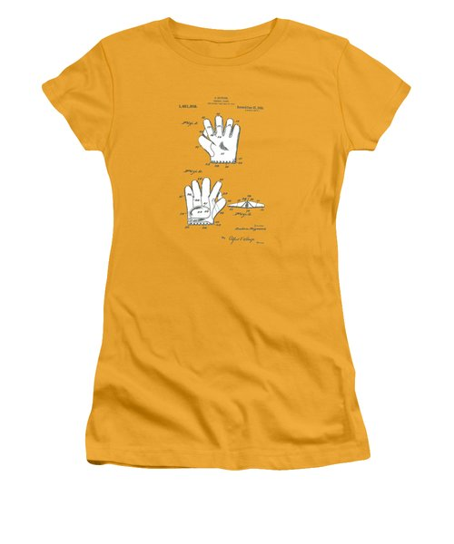 Baseball Glove 1921 Patent Women's T-Shirt (Athletic Fit)