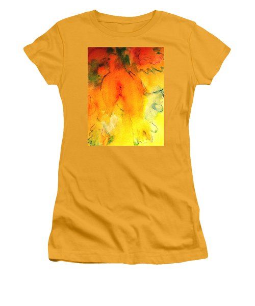 Women's T-Shirt (Junior Cut) featuring the painting Be Harmless As Doves by Hazel Holland