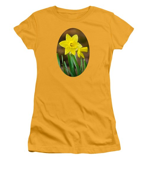 Beautiful Daffodil Flower Women's T-Shirt (Junior Cut) by Christina Rollo