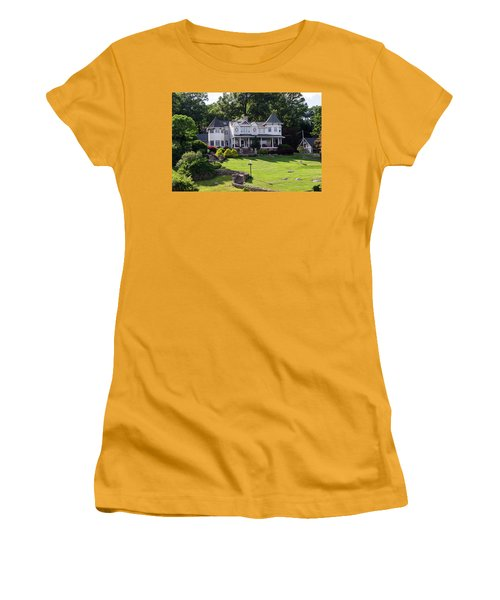 Beautiful Home On Lake Hopatcong Women's T-Shirt (Junior Cut) by Maureen E Ritter