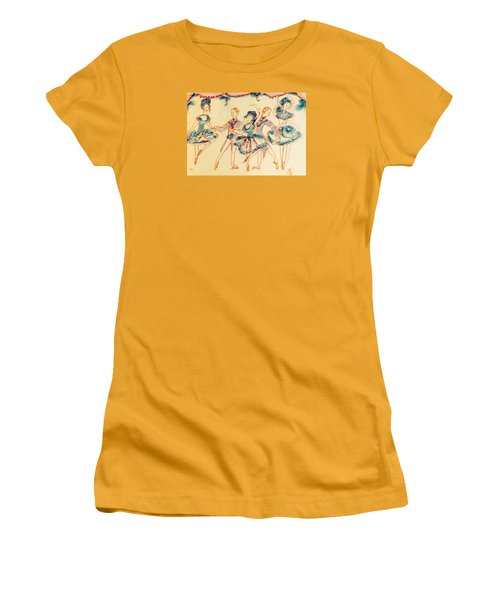 Beauty In Blue Ballet  Women's T-Shirt (Junior Cut) by Judith Desrosiers