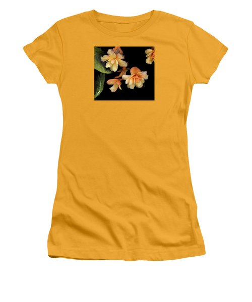 Begonias 2 Women's T-Shirt (Junior Cut) by Janis Nussbaum Senungetuk