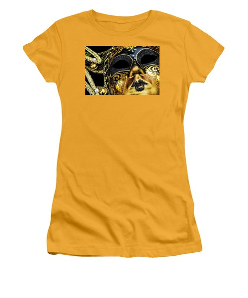 Women's T-Shirt (Junior Cut) featuring the photograph Behind The Mask by Carolyn Marshall