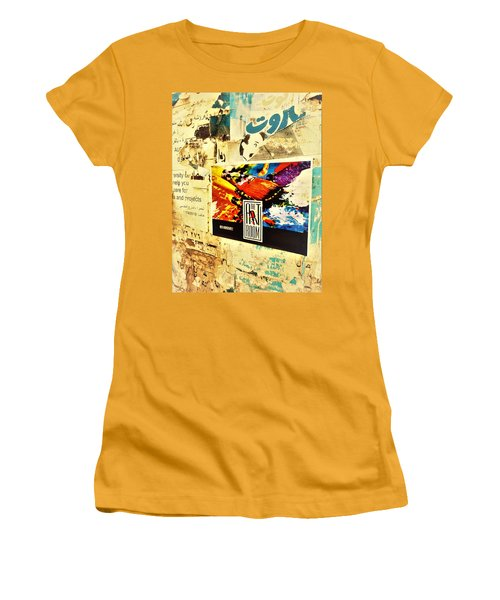 Beirut Wall  Women's T-Shirt (Junior Cut) by Funkpix Photo Hunter