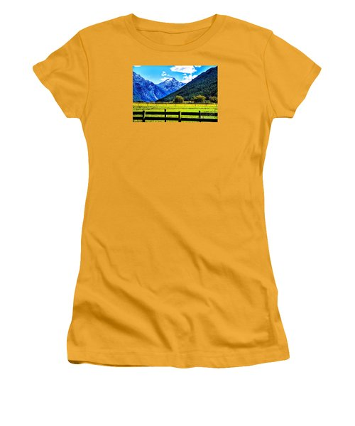 Women's T-Shirt (Junior Cut) featuring the photograph Beyond The Fence by Rick Bragan
