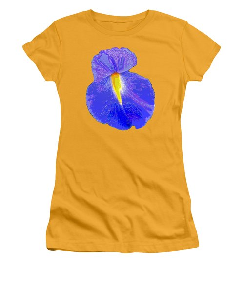 Big Mouth Iris Women's T-Shirt (Junior Cut) by Marian Bell