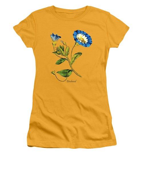 Women's T-Shirt (Junior Cut) featuring the digital art Bindweed by Asok Mukhopadhyay