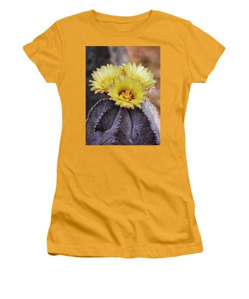 Women's T-Shirt (Junior Cut) featuring the photograph Bishop's Cap Cactus  by Saija Lehtonen