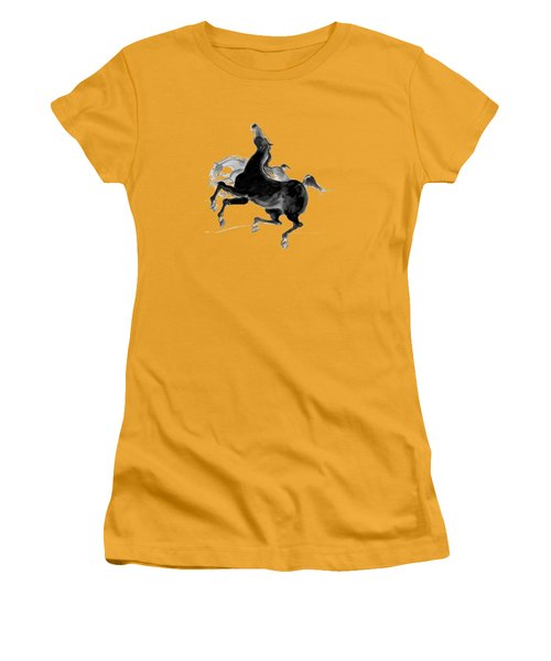 Women's T-Shirt (Junior Cut) featuring the drawing Black And Proud by Mary Armstrong
