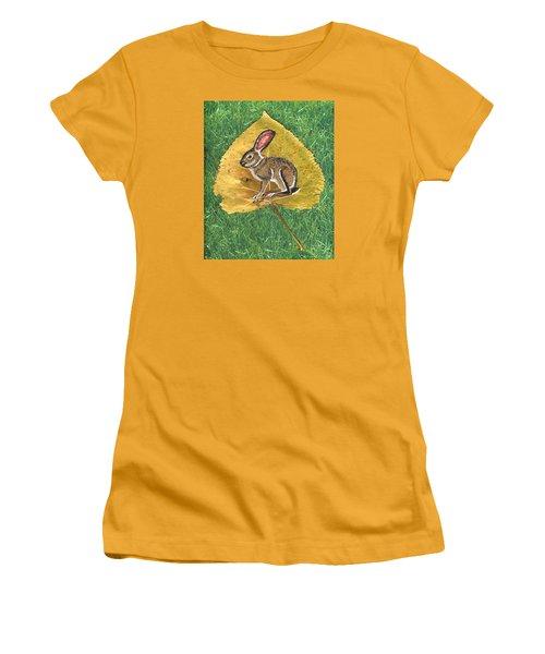 Black Tail Jack Rabbit  Women's T-Shirt (Junior Cut) by Ralph Root