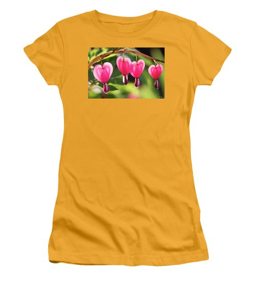 Bleeding Hearts Women's T-Shirt (Junior Cut) by Skip Tribby