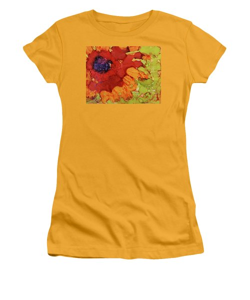 Women's T-Shirt (Junior Cut) featuring the painting Blooming Cactus by Cynthia Powell