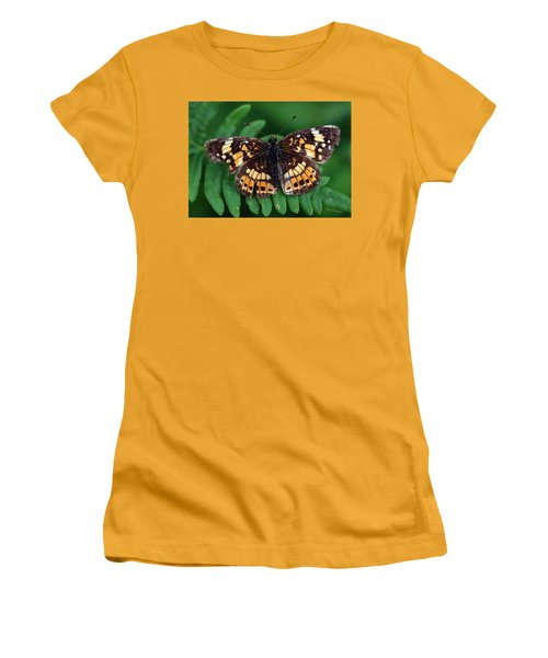 Blue Ridge Butterfly Women's T-Shirt (Junior Cut) by Kay Lovingood