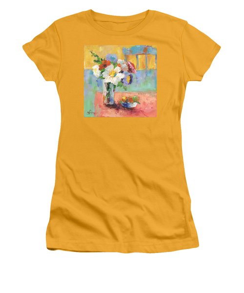 Blues Chair Women's T-Shirt (Junior Cut) by Sharon Furner