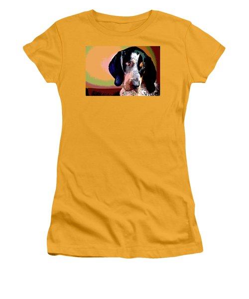 Bluetick Coonhound Women's T-Shirt (Junior Cut) by Charles Shoup