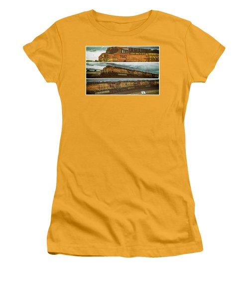 Bnsf 7682 Triptych  Women's T-Shirt (Junior Cut) by Bartz Johnson