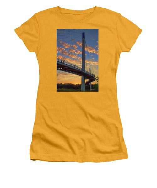 Bob Kerry Bridge At Sunrise Women's T-Shirt (Athletic Fit)