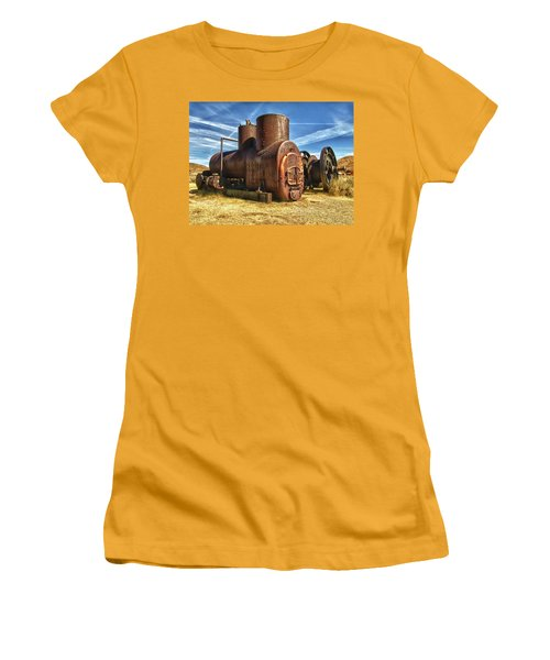 Old Boiler Bodie State Park Women's T-Shirt (Junior Cut) by James Hammond