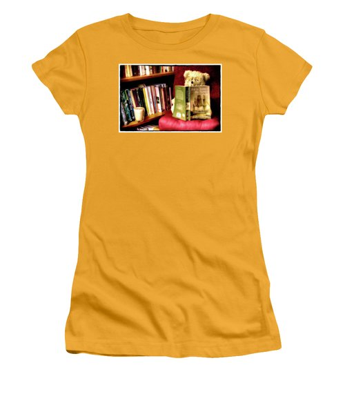Bookworm Ted Women's T-Shirt (Athletic Fit)