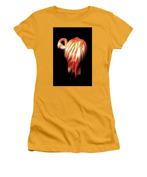 Bowie Flamingo Women's T-Shirt (Athletic Fit)