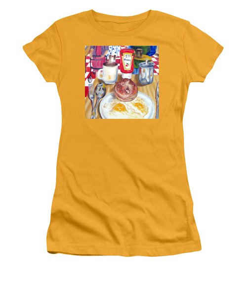Breakfast At The Deli Women's T-Shirt (Junior Cut) by Lisa Boyd