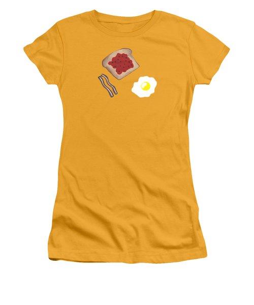 Breakfast - Food Art Women's T-Shirt (Athletic Fit)