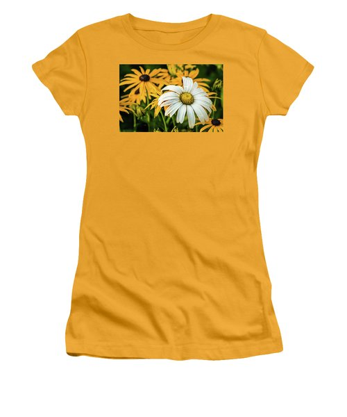 Women's T-Shirt (Junior Cut) featuring the photograph Bride And Bridesmaids by Bill Pevlor