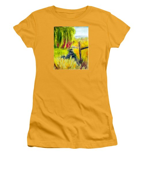 Bridge Over Small Stream Women's T-Shirt (Athletic Fit)