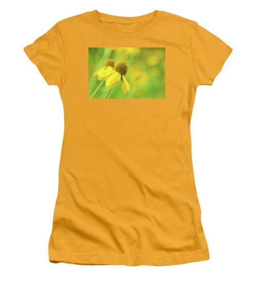 Bright Yellow Flower Women's T-Shirt (Athletic Fit)