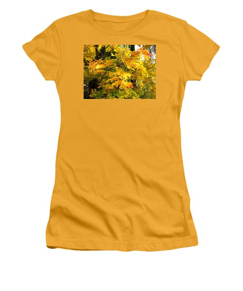 Women's T-Shirt (Junior Cut) featuring the photograph Brilliant Maple Leaves by Will Borden