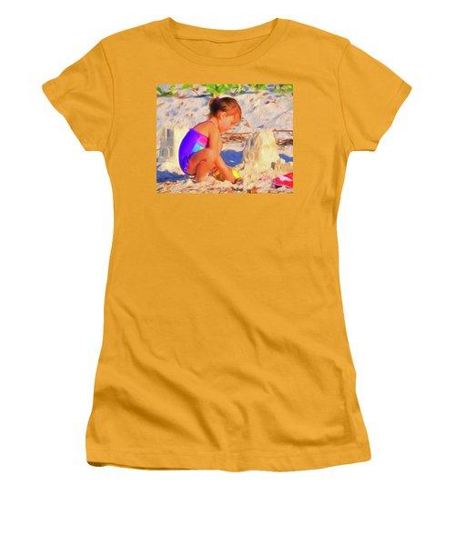 Building Sand Castles Women's T-Shirt (Athletic Fit)